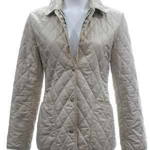 BURBERRY BEIGE QUILTED JACKET SIZE SMALL